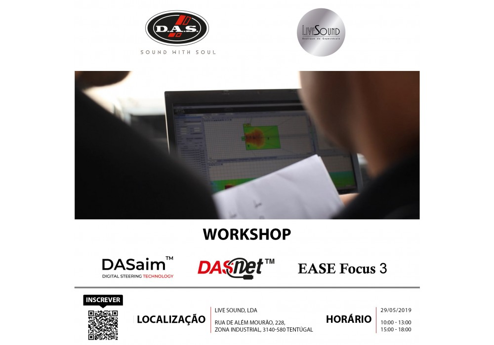 Workshop com equipamentos D.A.S. AUDIO